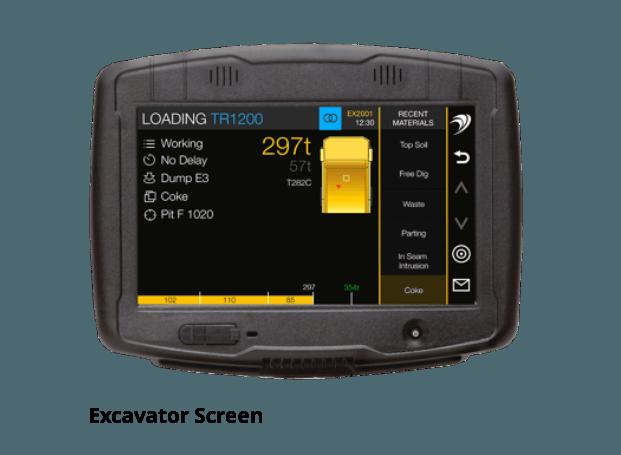 excavator screen