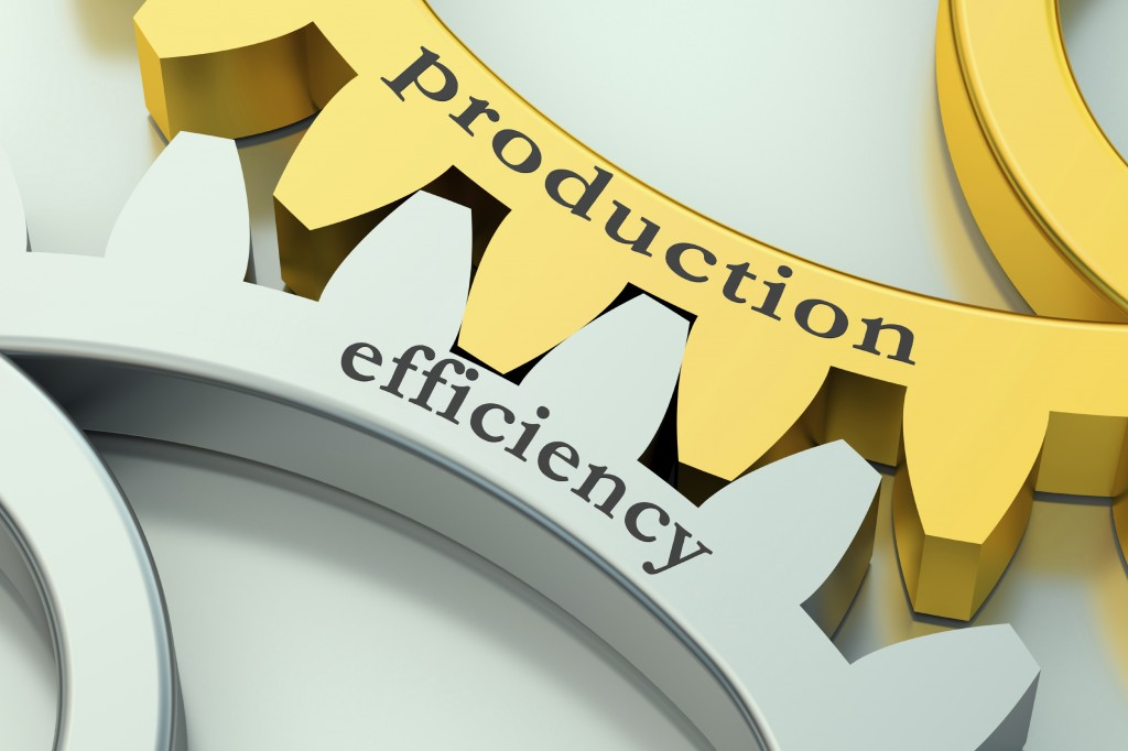 production and efficiency concept on the gear