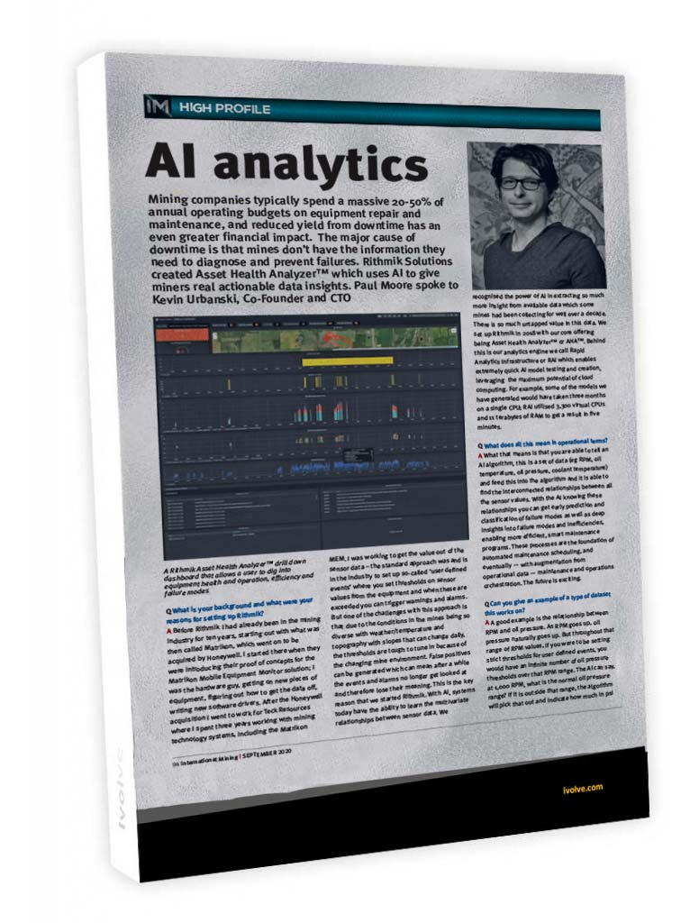 AI Analytics (International Mining Magazine)